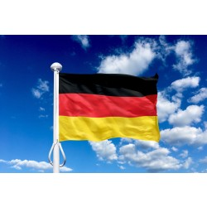 Tyskland 225 cm, 8-9 mtr. flagstang