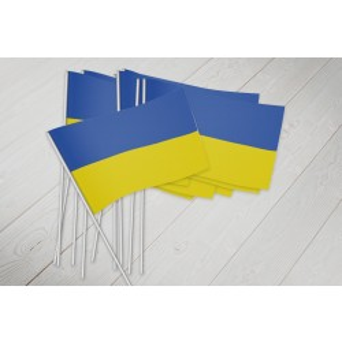 Ukraine vifteflag i papir (20x27 cm)