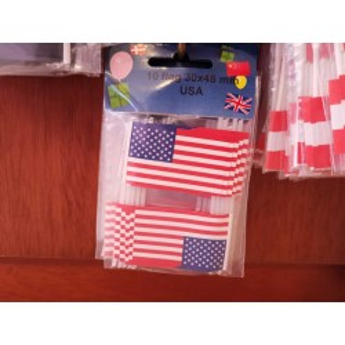USA kageflag i papir (30x48 mm)