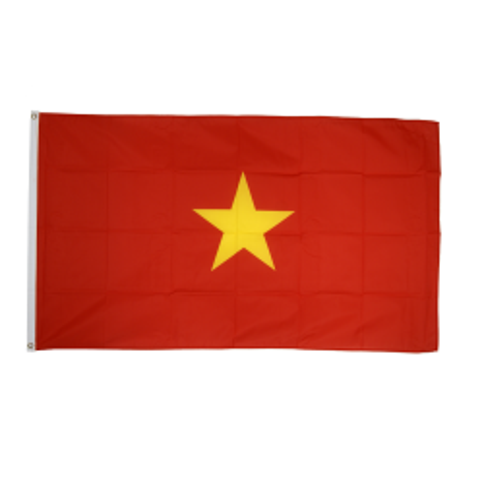 Vietnam flag i stof (90x150 cm)